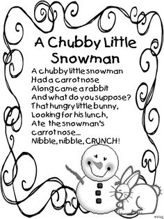 16 best Winter poems Kindergarten images on Pinterest