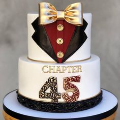 , You are in the right place about birthday cake Here we offer you the most beautiful pictures ab 30th Birthday Cakes For Men, Cool Birthday Cakes, Baby Birthday, 50th Birthday, 2 Tier Cake, Tiered Cakes, Tuxedo Cake, Bling Cakes, Shirt Cake