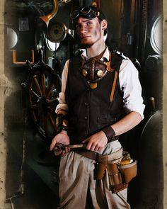 A clocksmith, tinkerer and mechanical enthusiast, Stagnino is the one who takes care of all the machines on the SS Tyche, as well as Imlay's arm. Model: Albin Totterman #gamedev #steampunk #steampunkgame #rednettlestudio #AutomatiA