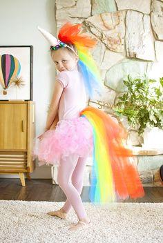 DIY Rainbow Unicorn Costume || #Unicorn #Costume #Halloween