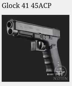 Glock 41 long slide .45 acp. Thinner slide on Glock21 frame. - So seriously WANT!