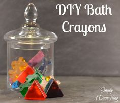 DIY Bath Crayons - testing two different types of soap and two different types of dye.