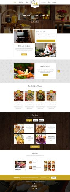 Belle is amazing, clean and professional Food & Restaurant #PSDTemplate. This template is recommended for #restaurants, #hotels having features like Registration, Login, Table booking, Showing food menu and their prices.