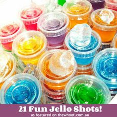 Jello shots, Jack Frost Cocktail, Candy Cane Beverage & Many More Delicious Drinks :)