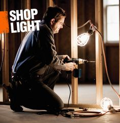 A shop light usually refers to a type of light than can be easily moved around a shop or workspace to allow for easier task lighting. Often, a shop light has a stand or clip that allows it to adapt to illuminate any project.