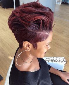 Purple Black Hair, Red Blonde Hair, Short Sassy Hair, Asian Short Hair, Short Thin Hair, Hair Color Pink, Short Hair With Layers, Short Hair Cuts For Women, Short Hair Styles