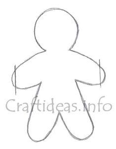 Gingerbread Man Paper Garland Template