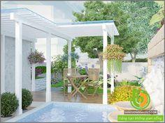 thiết kế thác nước sân vườn nhà phố