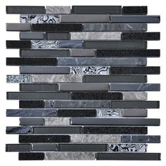 The Brick black mosaic tiles are striking mosaic tiles perfect for beautiful black bathroom tiles and for contemporary kitchen splashbacks.These ultra stylish tiles combine a beautiful mix of crystal and marble cut into elegant long strips which can be used vertically or horizontally.