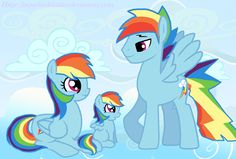 Rainbow blitz,rainbow dash and there daughter Rainbow Flash All My Little Pony, My Little Pony Friendship, My Little Pony Collection, Rule 63, Mlp Fan Art, Rainbow Dash, Disney Characters, Fictional Characters, Arts And Crafts