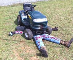 lawn mower halloween decoration - Google Search