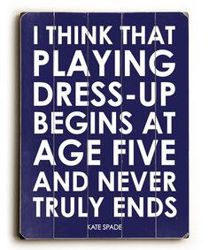 Take a look at this 'Playing Dress-Up' Wood Wall Art by Amanda Catherine Designs on #zulily today!
