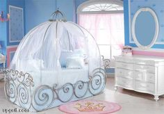 I'd love to do this for my little one when that day comes, but I think it would end up looking like Cinderella's bed by the fireplace rather than her carriage.