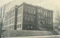 Brown High School as it sat on Wheeling Avenue. Current site of a parking lot.