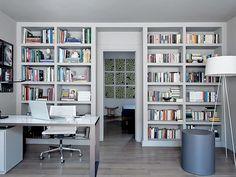 Home office com estante