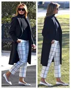 First Lady Melania Trump, Classy Outfits, Chic Outfits, Fashion Outfits, 60 Fashion, Womens Fashion, First Lady Melania Trump, Power Dressing, Black Turtleneck, Elegant Outfit