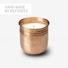Sisterhood Candles: Hand-hammered Copper 4-inch Votive
