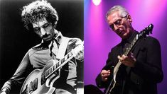 BEFORE AND AFTER BRAIN SURGERY: Pat Martino scorched the jazz world in the 1970s with his playing. Today the guitarist may not have all his gray matter, but he continues to play with peerless skill and beauty.L: Michael Ochs Archives / Stringer, R: Andrew Lepley / Contributor