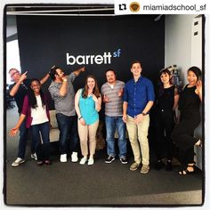 #Repost @miamiadschool_sf Our APBC group had a great time barrettSF earlier this week. It was great to meet everyone and see the great space! #creativelife #massf #miamiadschool #adlife #barrettsf