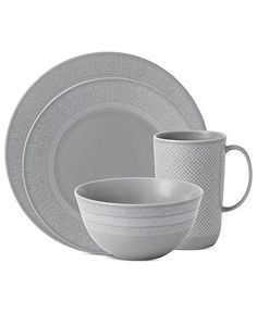 Vera Wang Wedgwood Dinnerware Simplicity Gray Collection - Casual Dinnerware - Dining u0026 Entertaining -  sc 1 st  Pinterest & Vera Wang Wedgwood Dinnerware Naturals Graphite Collection | Dream ...