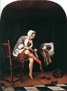 Woman at her toilet, Jan Steen, 1659-1660