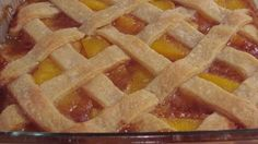 Flaky pastry enclosing peaches flavored with lemon and orange juice and spiced with nutmeg and cinnamon. Great Desserts, Delicious Desserts, Dessert Recipes, Yummy Food, Drink Recipes, Cobbler Crust, Cobbler Recipe, Old Fashioned Peach Cobbler, Fresh Peach Cobbler