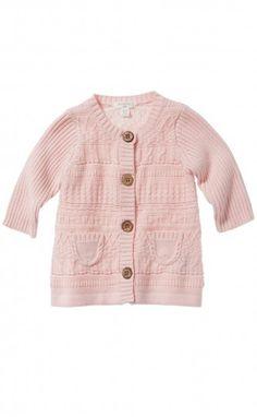 Organic cotton and wool knitted cardigan