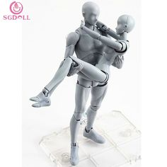 54.92$  Watch here - http://alive7.worldwells.pw/go.php?t=32722205688 - [SGDOLL]2017 Hot Sale New Body-Kun DX & Body-Chan DX Grey Color Version  Action Figure 2pcs Set PVC Art Collection  In Box G089 54.92$