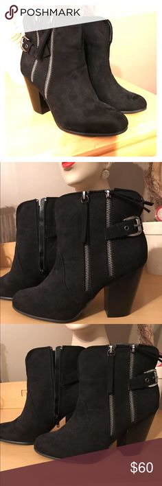 fbd62e2672d Carlos Santana Booties Like New!! size 8 Suede Material (faux I think)