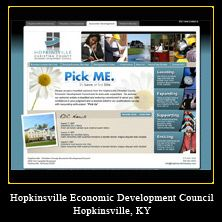 My Web Design Clients: Hopkinsville Economic Development Council. Hopkinsville, Kentucky.