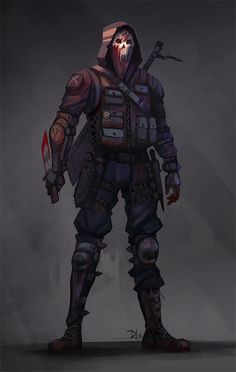 "Wanted to do some Joey ""possible skin"" concept. Fantasy Character Design, Character Design Inspiration, Character Concept, Character Art, Armor Concept, Concept Art, Zombie Survivor, Arte Ninja, Post Apocalyptic Art"