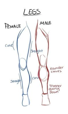 Leg Drawing | Legs drawing tips