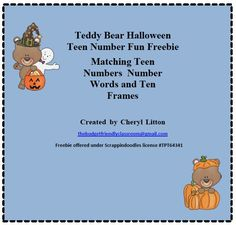 "FREE MATH LESSON - ""Halloween Teen Numbers""- Go to The Best of Teacher Entrepreneurs for this and hundreds of free lessons.  #FreeLesson  #Math   #Halloween   http://www.thebestofteacherentrepreneurs.net/2013/10/free-math-lesson-halloween-teen-numbers.html"