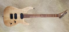 2017 Charvel USA Custom Shop Dinky 2HT basswood with flamed maple top, roasted neck, reverse headstock, EMGs, Hipshot bridge