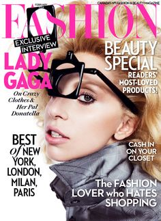 Lady Gaga on the cover of FASHION Magazine, February 2014