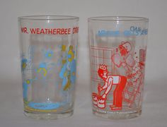 Vintage Archie Comic Welch's Jelly Juice Glasses Mr. Weatherbee Veronica Sabrina #ArchieComicsPublications