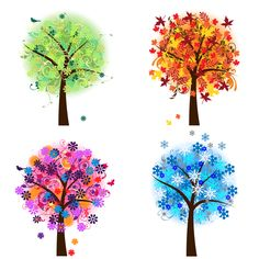 Print Candee - Four Seasons Trees Clipart, $6.00 (http://www.printcandee.com/four-seasons-trees-clipart/)