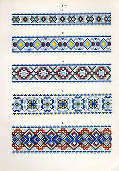 Creative Embroidery, Diy Embroidery, Cross Stitch Embroidery, Embroidery Patterns, Cross Stitch Boarders, Cross Stitch Designs, Cross Stitch Patterns, Loom Bracelet Patterns, Bead Loom Patterns