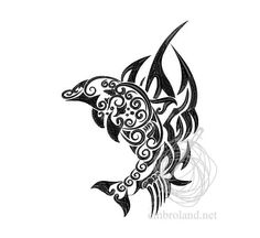 Fish Tattoo Machine Embroidery Design Instant Download