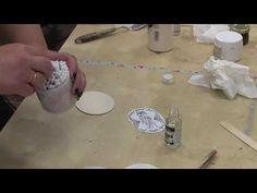 Διακοσμούμε ένα ξύλινο κουτί με ανάγλυφα χαρτιά, transfer, στένσιλ & παλαίωση!- PACO ART CENTER - YouTube