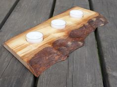 Wooden tea light holder wood candle holder christmas by Woodur