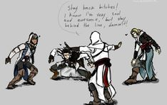 Assassin's creed x reader ~completed~ - Valentines *Late* - Wattpad Assasians Creed, Best Assassin's Creed, Funny Anime Pics, Funny Photos, Assassins Creed Anime, Funny Art, Funny Memes, Ac2, Persona