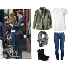 Anastasia Steele on Polyvore featuring moda, Balenciaga, American Eagle Outfitters, Paige Denim and Sophie Darling