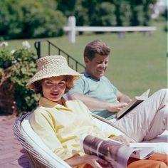 Jackie et JFK, Hyannis Port, 1959