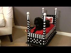 How To Make A Fancy Dog Bed Out Of An Old Table