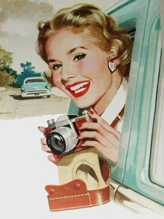 Sightseeing… detail from 1957 South Africa Tourism ad.