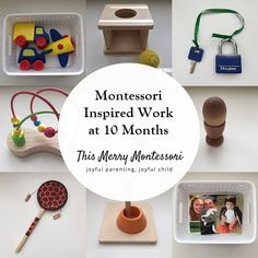 Eli took a brief break from shelf work for about a week when he first turned 10 . - Montessori & co - Tout pour les bébés Montessori Baby, Montessori 12 Months, Montessori Trays, Montessori Playroom, Montessori Education, Montessori Materials, Montessori Activities, Infant Activities, Baby Education