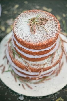 lavender wedding cake or what I call a naked cake! Cupcakes, Cupcake Cakes, Beautiful Cakes, Amazing Cakes, Lavender Cake, Naked Cake, Dessert Table, Cake Table, Love Cake