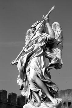angel by nonsodove on DeviantArt - Statuesqúe. /// - angel by nonsodove. Angel Sculpture, Roman Sculpture, Sculpture Art, Statue Tattoo, Greek Statues, Angel Statues, Guerrero Tattoo, Statue Ange, Portrait Art