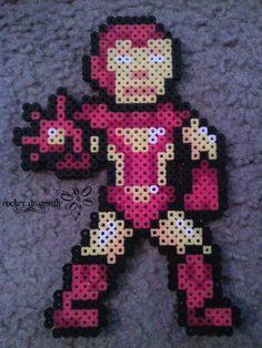Iron Man perler beads by RockerDragonfly on deviantart